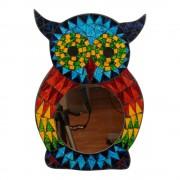 Spiegel van Mozaïek Uil Multicolor