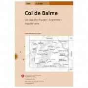 Swisstopo 1344 Col de Balme Carta escursionistica