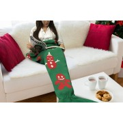 Cheeky Box Ltd Winter Mermaid Blanket in Green