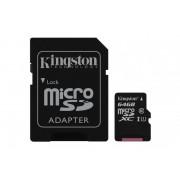 Card de memorie Micro SD Kingston, 64GB, SDC10G2/64GB, Clasa 10, cu adaptor SD