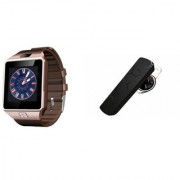 Mirza DZ09 Smartwatch and HM1100 Bluetooth Headphone for SONY xperia e(DZ09 Smart Watch With 4G Sim Card Memory Card| HM1100 Bluetooth Headphone)
