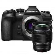 Olympus OM-D E-M1 Mark II body zwart + Olympus M.Zuiko Digital ED 17mm f/1.2 PRO