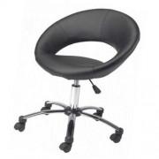 Kancelarijska fotelja Round crna
