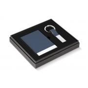 Бизнес подарък PHILIPPI TODD от 2 части (визитник и ключодържател) - цвят син