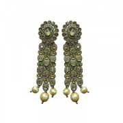 Ear Rings For Girls In Traditional Gold Plated Pearl Earrings For Women Jewellery