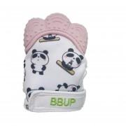 Guante Mordedera De Silicon Panda bebe Denticion 4 colores