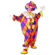 Vegaoo Veelkleurige clown kostuum voor kinderen M 122/128 (7-9 jaar)