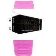 Unisex White Black Dial Pink Belt Digital Designer dial Women And Men Watches