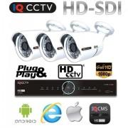 Kamerový systém HD SDI - 3x 1080P kamery s 30m IR + HD SDI DVR