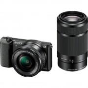 Sony A5100 Aparat Foto Mirrorless 24MP APSC Full HD Kit cu Obiectiv 16-50 F/3.5-5.6 OSS si 55-210 F/4.5-6.3 OSS Negru