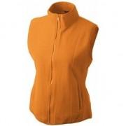 James & Nicholson Fleece bodywarmer werkkleding oranje voor dames