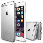 Husa Protectie Spate Ringke Slim Crystal Transparenta plus folie protectie display pentru iPhone 6s Plus