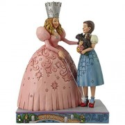 Enesco Wizard of Oz by Jim Shore Glinda and Dorothy Figura Decorativa, diseño de Zapatilla de rubí