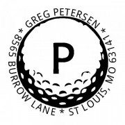 Trodat Monogrammstempel Golf - rund