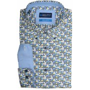 Bos Bright Blue Willem Casual Overhemd 19107WI30BO/500 multicolour