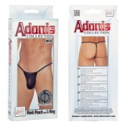 Adonis Mesh Pouch With C Ring G String Underwear Black SE4528