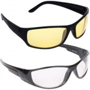 Aligatorr Clear Yellow UV Protection Sports Unisex Sunglasses