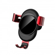 LENUO CL-27 Universal Gravity Air Vent Car Mount Stand for iPhone Samsung Huawei - Red
