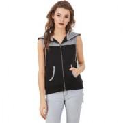Texco Grey Black Hooded Sweatshirt for Women