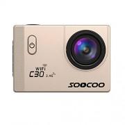 Ocamo Cámara de acción WiFi, C30R Sports Action Camera 4K Gyro 2.0 Pulgadas visualización LCD 30 m bajo el Agua Control Remoto cámara cámara de ángulo Ajustable YJJ1121-dianzi-5C10A82452