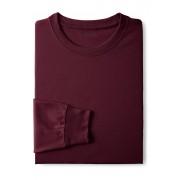 ランズエンド LANDS' END メンズ・スーパーT/長袖/Tシャツ(ディープクラレット)