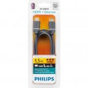 Cablu Philips SWV4432S/10 HDMI Male la HDMI Male Ethernet 1.5m gri