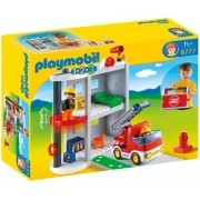 Playmobil 1 2 3 Take Along Fire Station, Multi Color