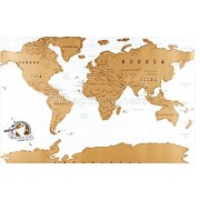 Lepakshi World Map Travel Scratch Off Map Personalized Poster Traveler Vacation Log National Geographic Map of The World