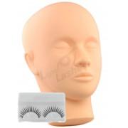 Eyelash extension Testa di manichino per esercitazione