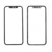Geam Sticla iPhone XR Cu Rama Si Adeziv Sticker Negru