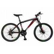 Bicicleta MTB-HT 24 VELORS V2409A Cadru otel Culoare negru-rosu