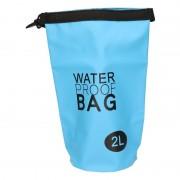 Geen Blauwe waterdichte tas 2 liter