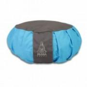 PRANA Kék -Szürke zafu huzat 36x12 cm kerek jóga ülőpárnához