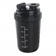 Gimnasio deportivo de bolsillo vaso mezclador agitador proteína batir la botella agitador BOLA-Negro