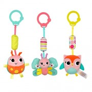 Bright Starts Pretty In Pink Stroller Toys, Chime Along Friends