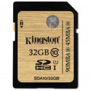 Kingston Digital 32GB SDHC Class 10 UHS-I Flash Card (SDA10/32GBET)