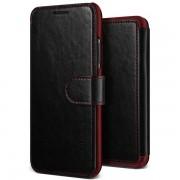 Verus Dandy Layered Case - кожен калъф, тип портфейл за iPhone XS, iPhone X (черен)