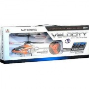 Velocity remote controlled flying helicopter