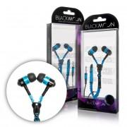 BLACKMOON Stereo Zip slúchadlá s mikrofónom modré