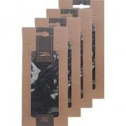 Merkloos 4x Zakje zwarte houtsnippers 150 gram - Hobbydecoratieobject