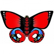 WindnSun Indian Red Butterfly Nylon Kite-32 Inches Wide by Brainstorm
