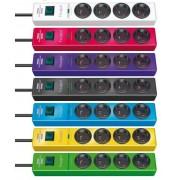 Brennenstuhl Przedłużacz listwowy przepięciowy 4 gniazda kolory 2m H05VV-F 3G1,5 19.500A