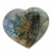 Cristal natural Unicat Labradorit inima 85 x 73 mm ( XL )