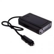 DY-200N 200W DC 12V to AC 220V Car Power Inverter with 500mA USB Port & EU / US Power Socket(Black)
