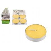 Citronella repelentní čajové svíčky proti komárům 6 ks