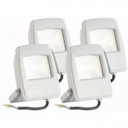 KryoLights Wetterfester LED-Fluter, 10 Watt, 750 Lumen, IP65, warmweiss, 4er-Set
