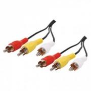 Cablu 3x RCA - 3x RCA 2,5 m