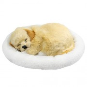 """Tplay Tplay Breathing Dog Golden Retriever Puppy h Toy with Bed 10"""""""