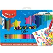 Creioane colorate Color Peps Star cutie metal 48 culori/set Maped
