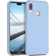 Protectie spate Senno Pure Flex Slim Mate TPU pentru Huawei P20 Lite (Albastru deschis)